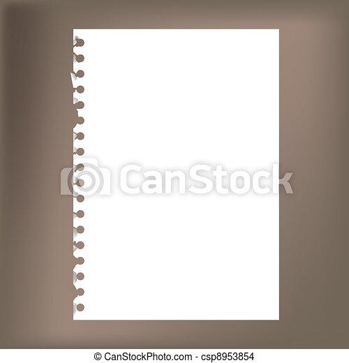 -, notatnik, do góry, ilustracja, papier, czysty, zamknięcie - csp8953854