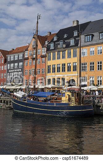 -, nyhavn, danemark, copenhague - csp51674489