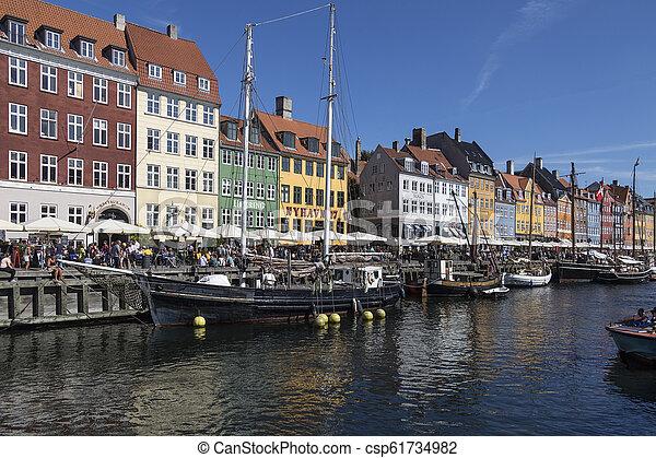 -, nyhavn, danemark, copenhague - csp61734982