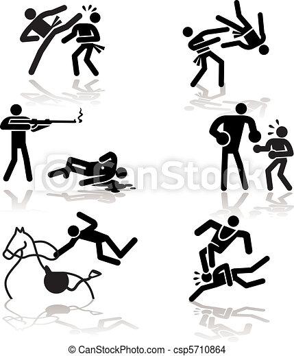-, olympisk, humor, idræt, 4 - csp5710864