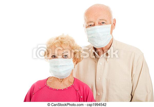 -, paar, senior, epidemie - csp1994542