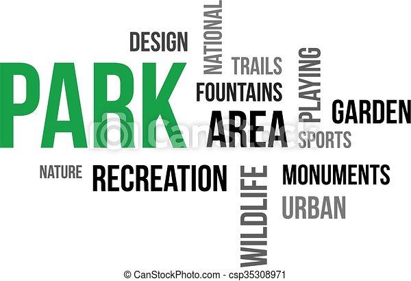 Nube de palabras, parque - csp35308971