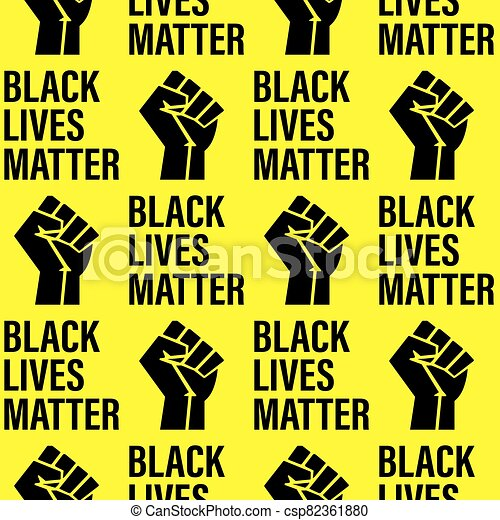 -, patrón, fondo., texto, textura, apretado, negro, amarillo, vidas, printable, puño, seamless, movimiento, cartel, asunto - csp82361880