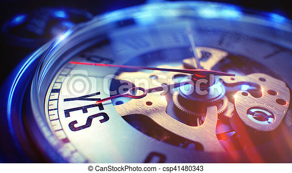 -, poche, watch., locution, oui, 3d. - csp41480343