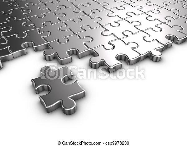 -, quebra-cabeça, metal - csp9978230