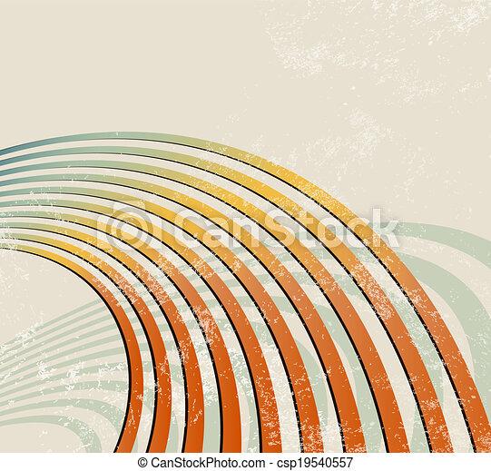 -, rádio, retro, fundo, ondas - csp19540557