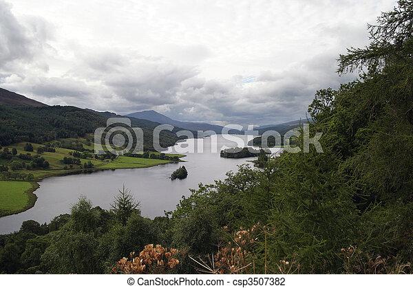 -, reines, perthshire, vue - csp3507382