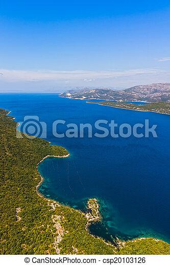 -, schiereiland, adriatisch, kroatië, peljesac, landscape - csp20103126