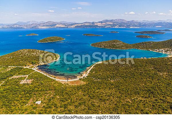 -, schiereiland, adriatisch, kroatië, peljesac, landscape - csp20136305