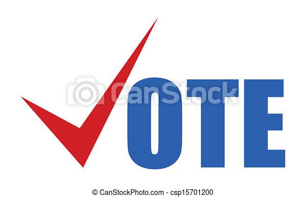 Vota, el día de las elecciones señal de vector - csp15701200