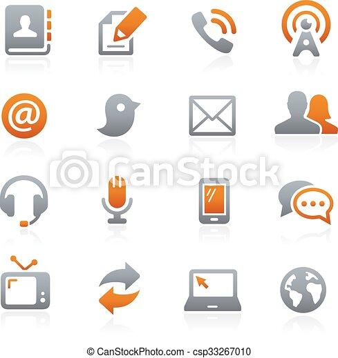 --, signaltjänst, grafit, ikonen - csp33267010