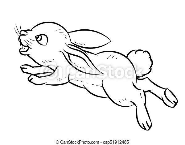 simple linha vetorial desenho coelho vetorial esboço