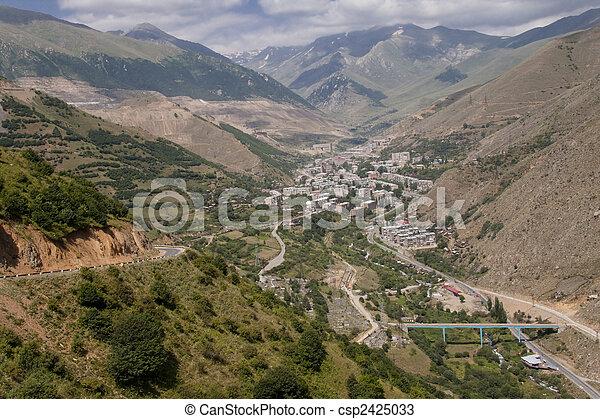 Kajaran City Armenien Stadt Im Tal Luftaufnahme Von Kajaran In Armenien