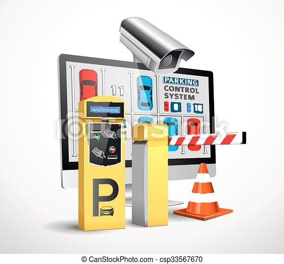 -, station, paiement, accès, stationnement - csp33567670
