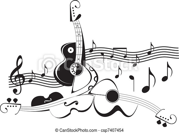 -, strumenti, vettore, illustra, musica - csp7407454
