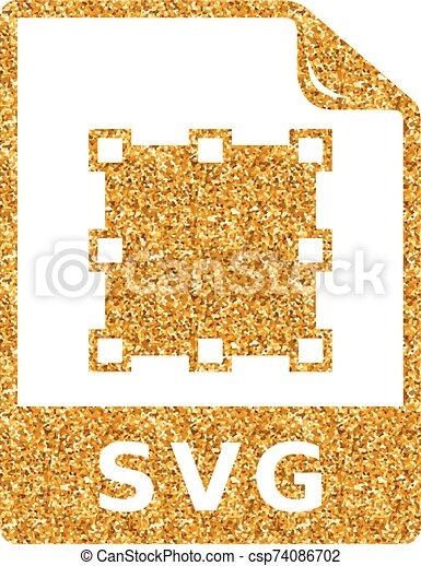 -, svg, schitteren, goud, pictogram, bestand - csp74086702