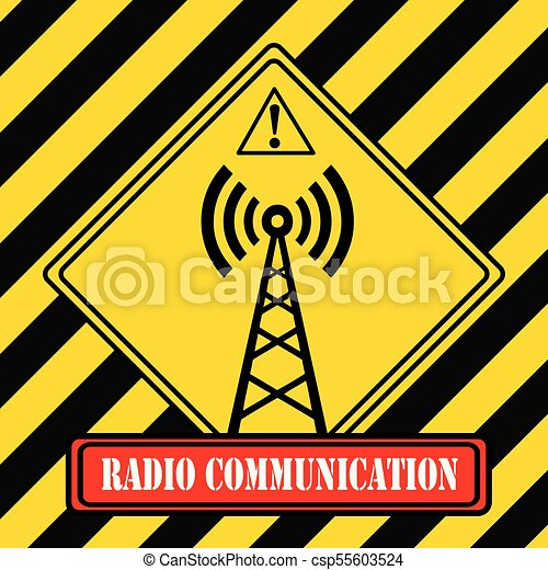 -, symbole, industriel, radio, communication - csp55603524