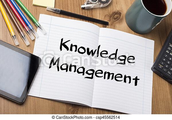 -, tampon, gestion, connaissance, texte, note - csp45562514
