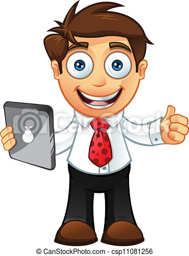 -thumbs, człowiek, tabliczka, handlowy, do góry - csp11081256