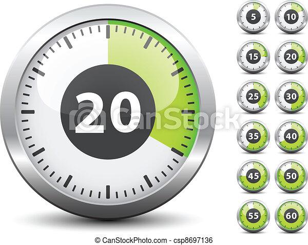 -, tijdopnemer, een, vector, elke, veranderen, gemakkelijk, tijd, minuut - csp8697136