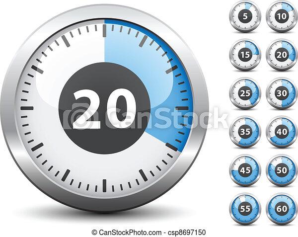 -, tijdopnemer, een, vector, elke, veranderen, gemakkelijk, tijd, minuut - csp8697150