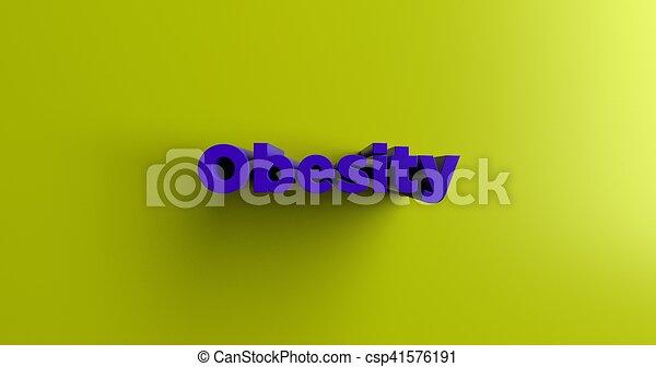 Obesidad, encabezado 3D - csp41576191
