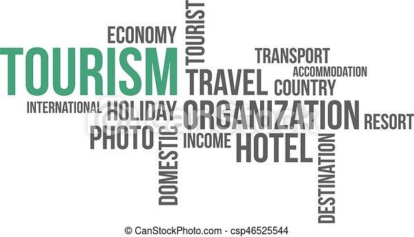 -, toerisme, wolk, woord - csp46525544
