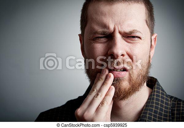-, toothache, homem, problemas, dentes - csp5939925