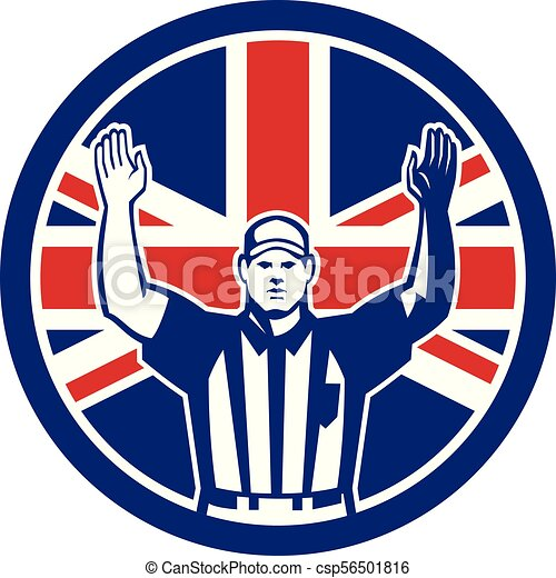 american-football-referree-td_CIRC_UK-FLAG - csp56501816