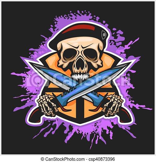 Soldado de la Fortuna, emblema vectorial - csp40873396