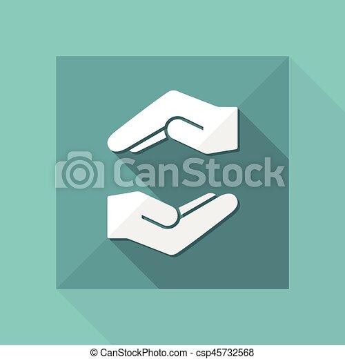 Un gesto de cuidado, un icono mínimo - csp45732568