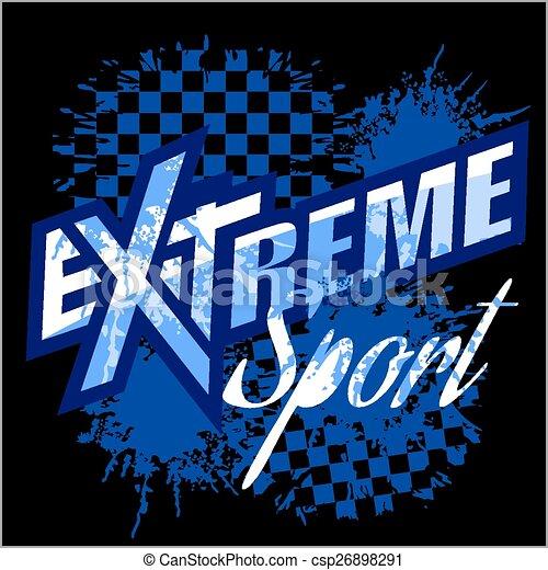 Vector eXtreme sport - vector logo por camiseta. - csp26898291