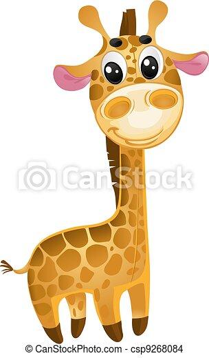-, vektor, spielzeuge, baby, giraffe., weich - csp9268084