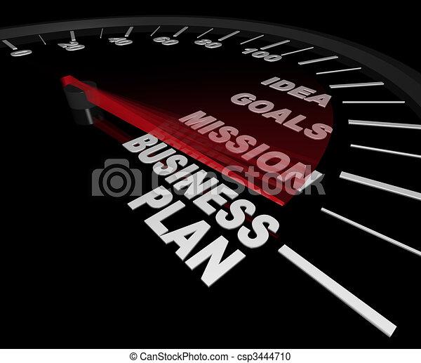 Plan de negocios, velocímetro - csp3444710