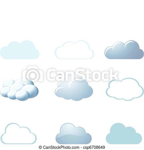 Wettersymbole - Wolken - csp6708649