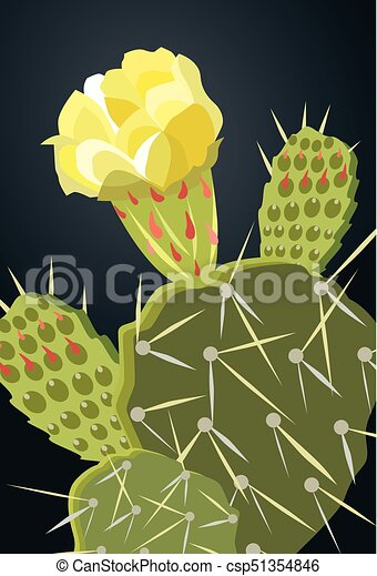 00005 prickly pear cactus yellow flower 1eps prickly pear cactus 00005 prickly pear cactus yellow flower 1eps csp51354846 mightylinksfo
