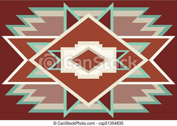00010 Abstract Southwest Native Background Red 1eps Abstract