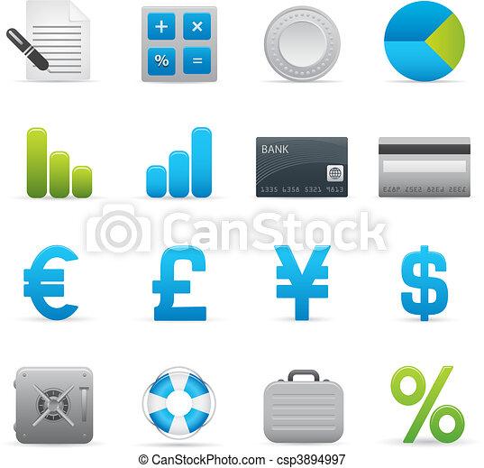 01, indigo, finanças, ícones, série, | - csp3894997