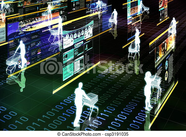 01, shopping, internet - csp3191035