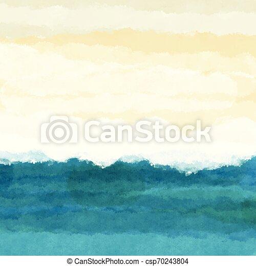 La escena de la playa Watercolour 0106 - csp70243804