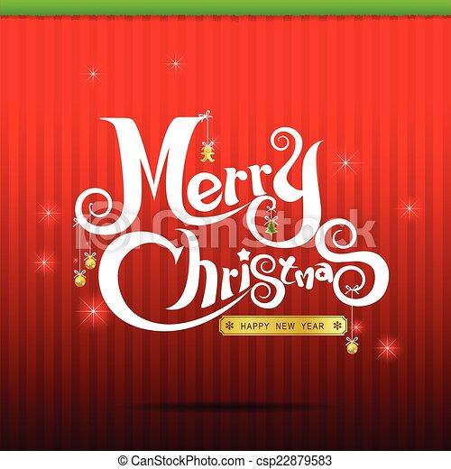 014-Merry Christmas text 004 - csp22879583