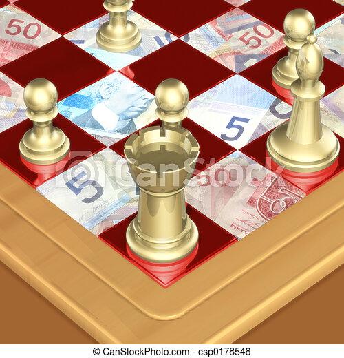 02, finance, échecs - csp0178548