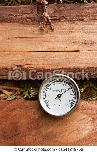 03, kompost, hög, termometer