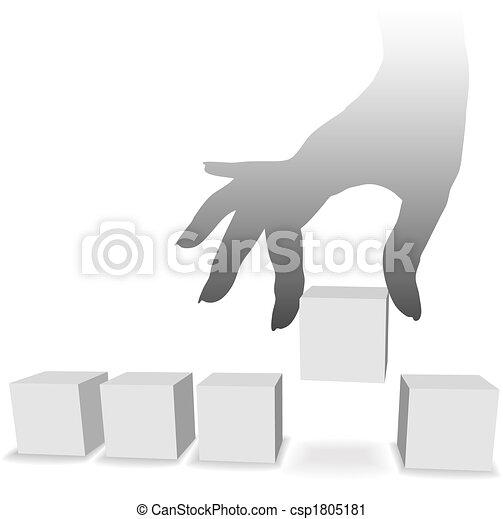 1(人・つ), 選択, 一突き, copyspaces, 5, 手 - csp1805181
