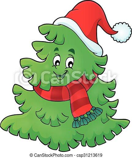 1, árbol, tema, sombrero, navidad - csp31213619