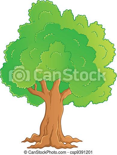1 , θέμα , δέντρο , εικόνα  - csp9391201