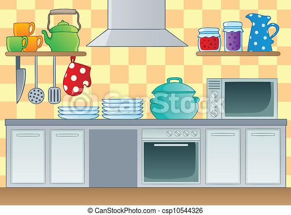 1, תימה, דמות, מטבח - csp10544326