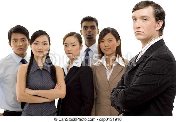 1, グループ, リーダー, ビジネス - csp0131918