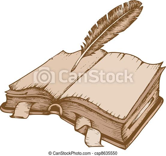 1, 主題, 本, 古い, イメージ - csp8635550