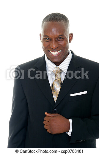 1, 人, 黒, スーツ - csp0788481
